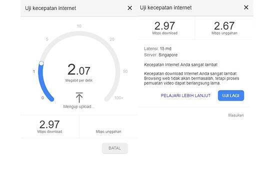 Cara Mengecek Kecepatan Internet Google Speed Test Hasilnya 705d2