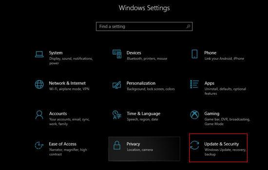 Settings Windows 10 Dc0b9