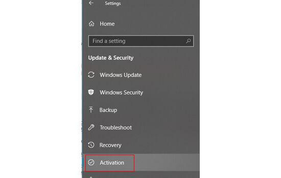 Activation Windows 10 2654f