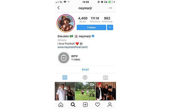 Akun Instagram Dengan Followers Terbanyak Neymar Jr C2fd1