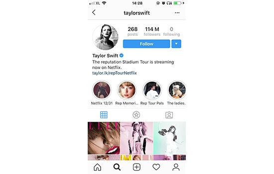 Akun Instagram Dengan Followers Terbanyak Taylor Swift 7e6eb