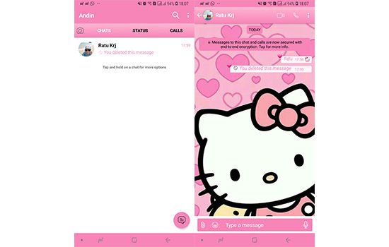 Tema Whatsapp Hello Kitty 1 F288b