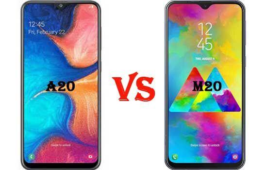 Perbandingan Samsung A20 Vs M20 Dimensi Layar 3d577