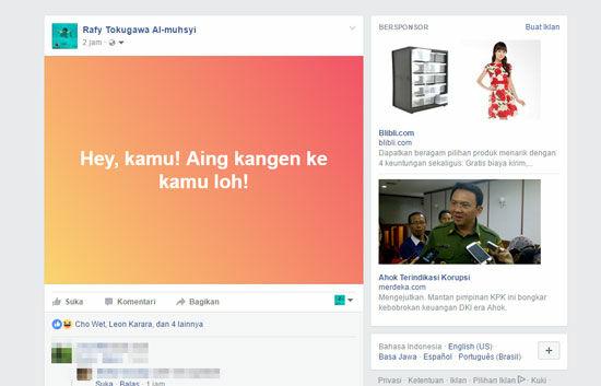 Cara Membuat Status Facebook Warna Warni 4