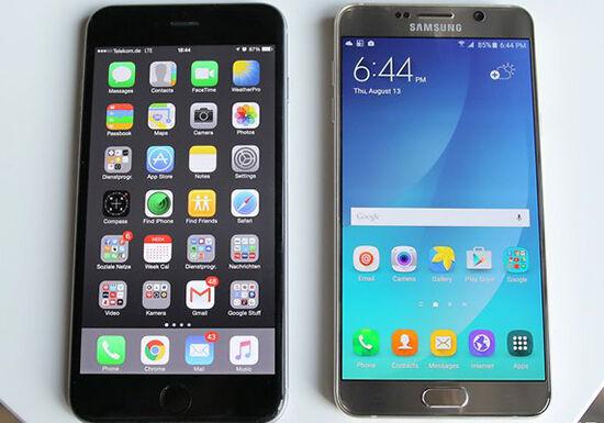Samsung Galaxy Note 5 Iphone 6 Plus Screen W782