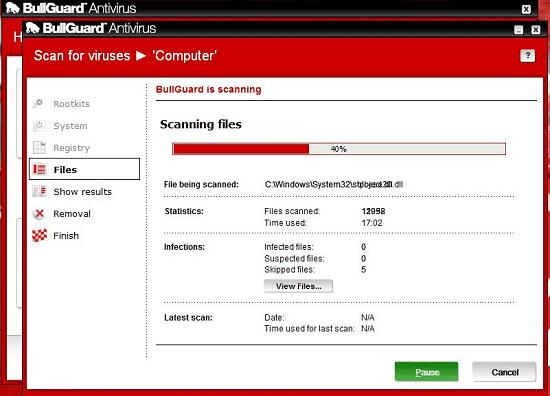 Bullguard Antivirus Scanning