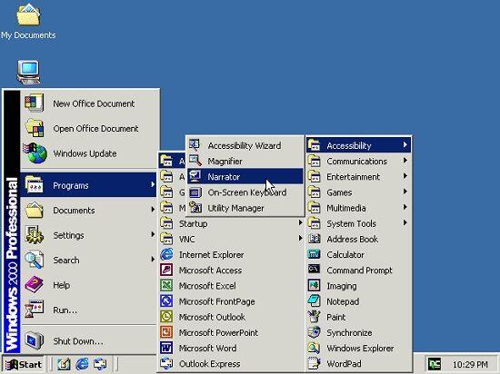 Windows 95 Start Menu 2000