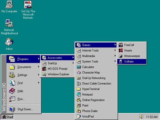 Windows 95 Start Menu 95