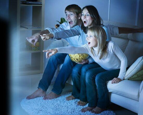 Bigstock Family Watching Tv True Emoti 24075827