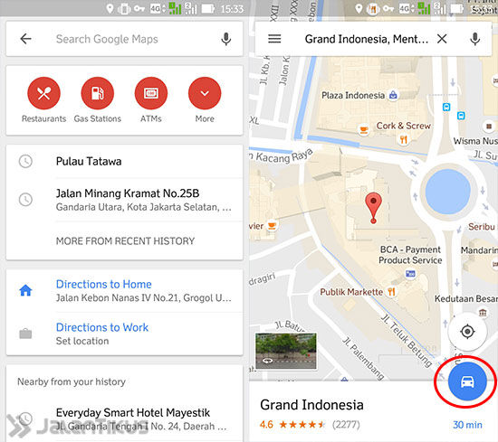Tarif Ojek Online Via Google Maps