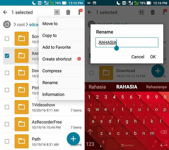 Cara Sembunyikan File Di Android Tanpa Aplikasi 2