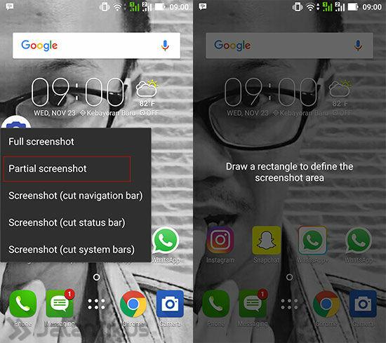 Aplikasi Android Terbaik Screenshot Crop