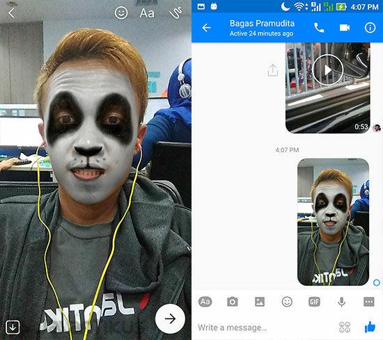 Snapchat Di Facebook Messenger 5