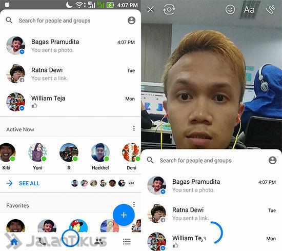 Snapchat Di Facebook Messenger