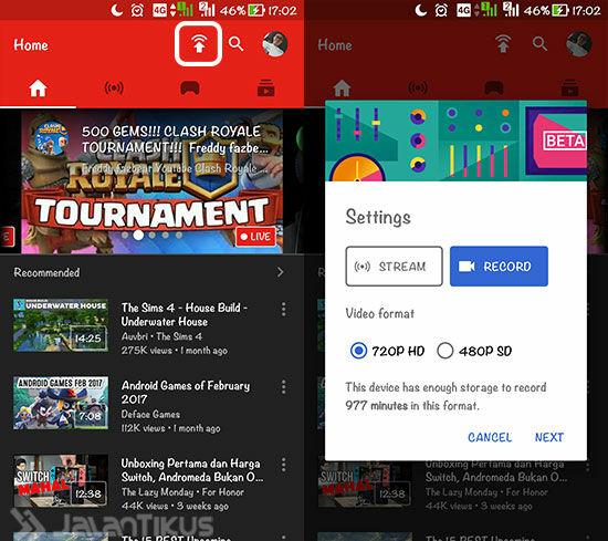 Cara Merekam Layar Android Menggunakan Youtube 2