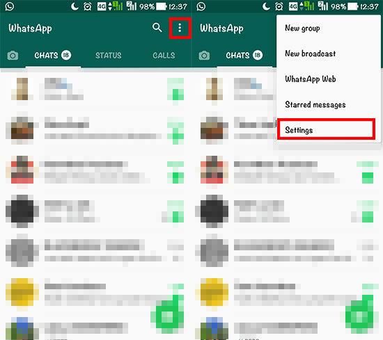 Cara Mengembalikan Status Lama Whatsapp