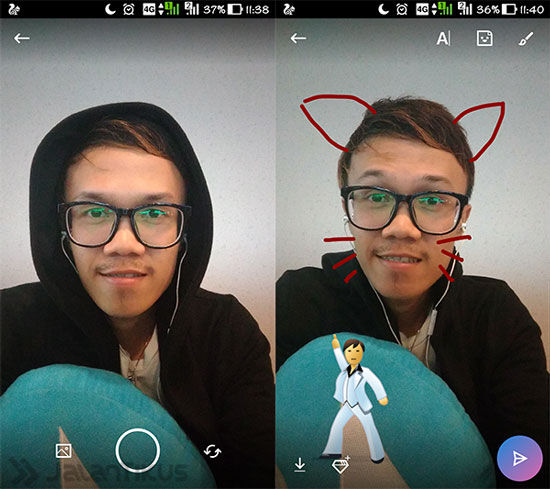 Fitur Story Di Skype 2