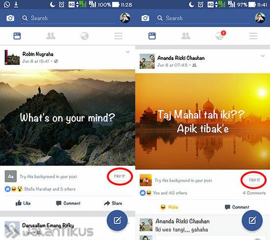 Cara Membuat Status Foto Di Facebook 2