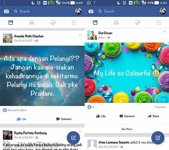 Cara Membuat Status Foto Di Facebook