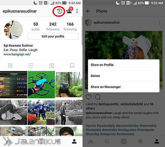 Cara Menyembunyikan Foto Di Instagram 4