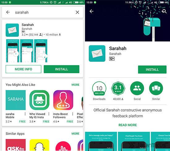 Aplikasi Sarahah 01