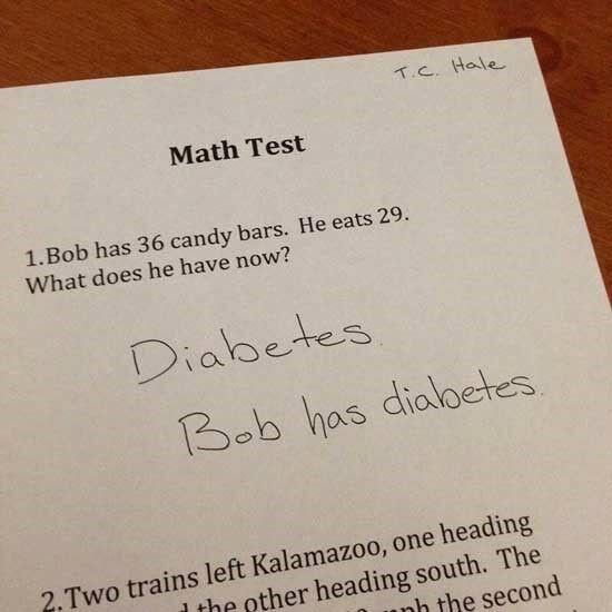 Jawaban Absurd Soal Ujian Diabetes 1bdd9