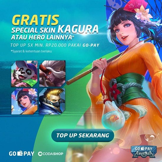 Skin Mobile Legends Gratis Gopay Promo 26576