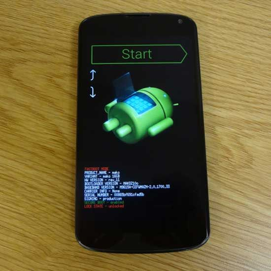 Rooting Android Nexus 2