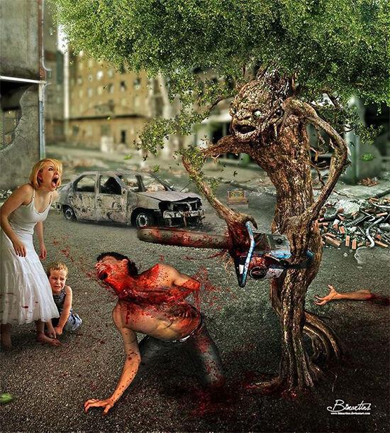 Ilustrasi Perlakuan Hewan Ke Manusia 2