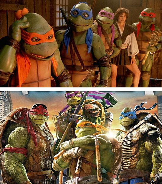 Superhero Dulu Vs Sekarang Teenage Mutant Ninja Turtles