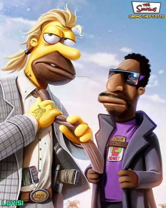 Lenny And Carl The Simpsons
