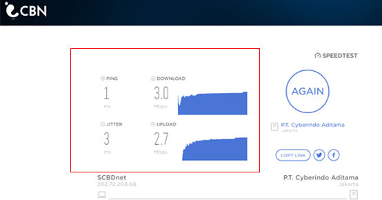 Cara Mengecek Kecepatan Internet Cbn JT 0cbf4