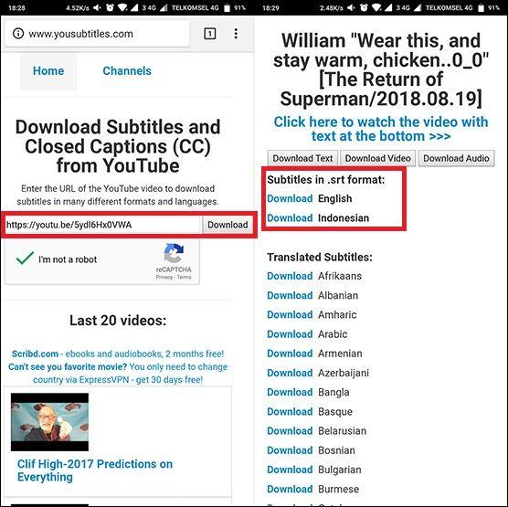 Cara Download Subtitle Youtube 2 F1810