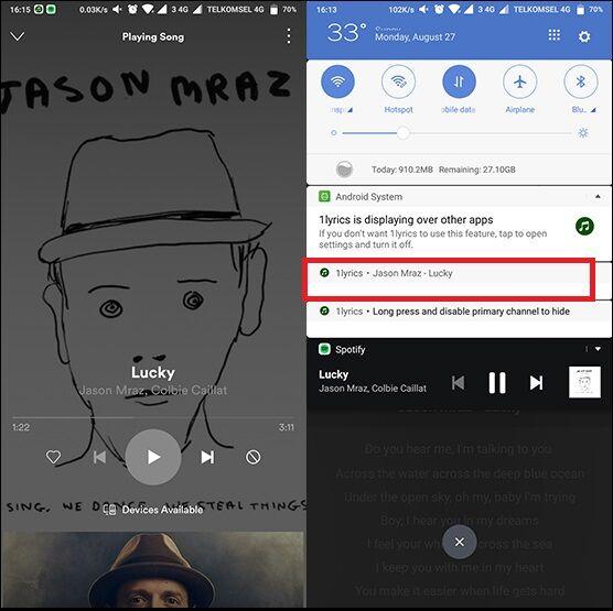Cara Menampilkan Lirik Spotify 3 063c7