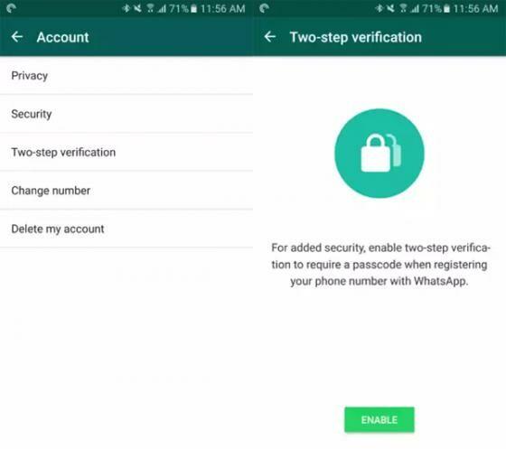 Verifikasi Dua Langkah WhatsApp