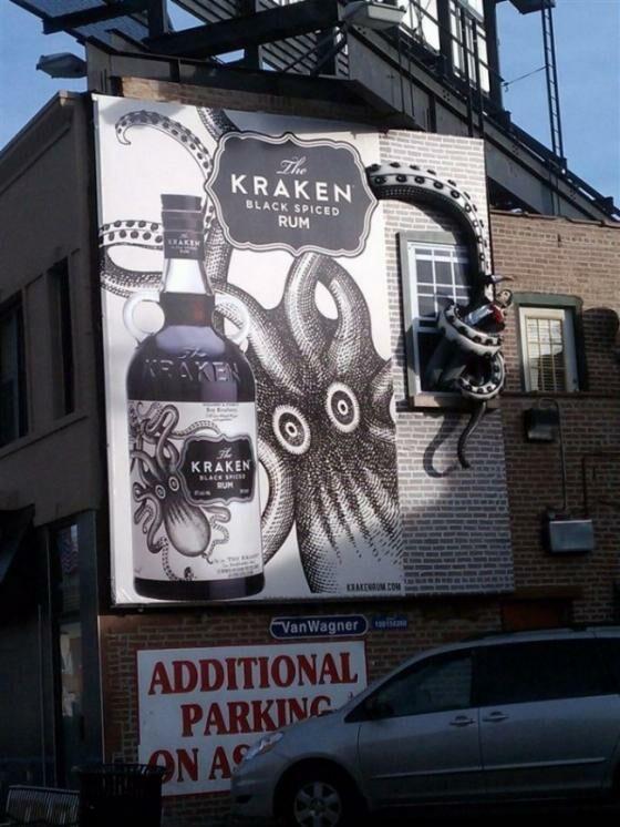 Ini produk minuman beralkohol yang menggunakan Kraken