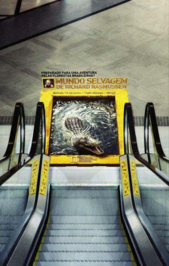 Untuk memperingati kamu agar jangan menginjak tanda warna kuning di eskalator