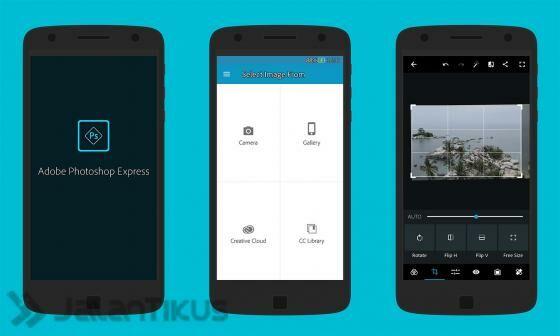 ... Photoshop Express di Android. Setelah instalasi, jalankan aplikasinya