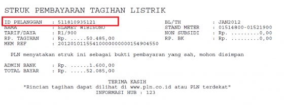 Cek Id Pelanggan Pln 1 B2dc4