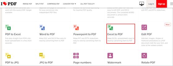 Convert Excel To Pdf I Love Pdf 86fce