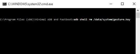 Gunakan ADB untuk Menghapus File Password
