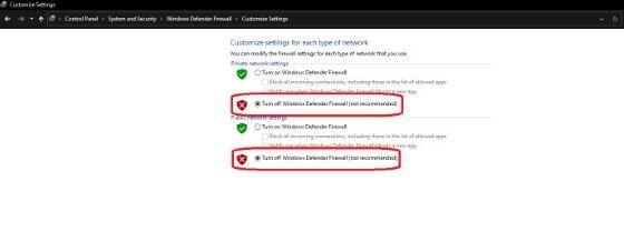 Cara Mematikan Firewall Pada Windows 7 8 10 Lewat Turn Off Windows Defender Firewall C10e1