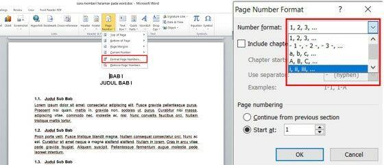 Cara Membuat Nomor Halaman Di Word Untuk Skripsi Custom 8aeac