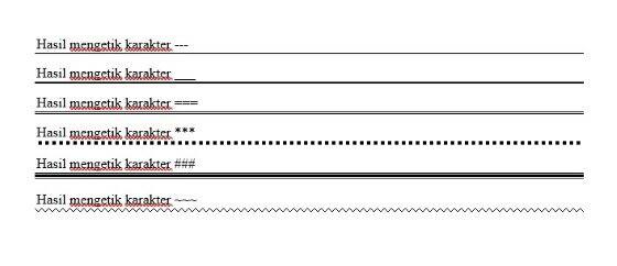 Cara Membuat Garis Di Word F2c8e
