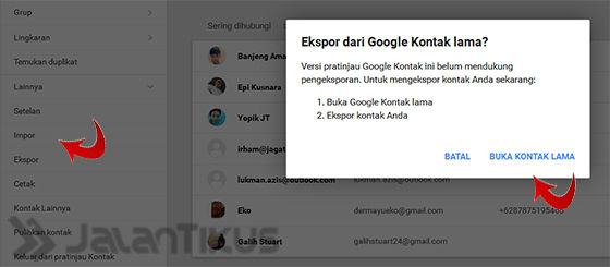 Cara Transfer Kontak Telepon Menggunakan Akun Google Jalantikus