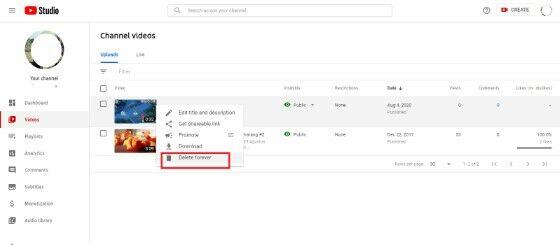 Cara Hapus Video Youtube Pc Delete 1ccc0