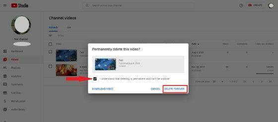 Cara Hapus Video Youtube Pc Delete Forever 2558b