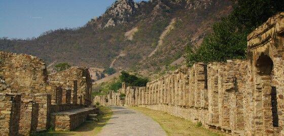 Market Ruins Bhangarh Fort Jaipur Rajasthan 83791