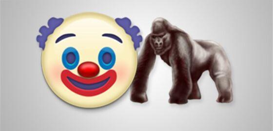 Emoji Gorila Dan Badut Ef6db