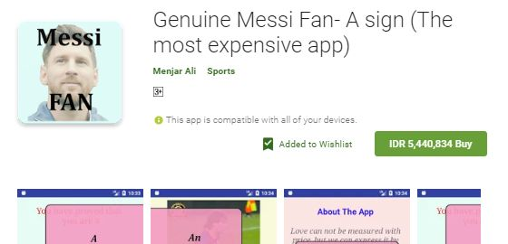 Genuine Messi Fan A Sign A092a